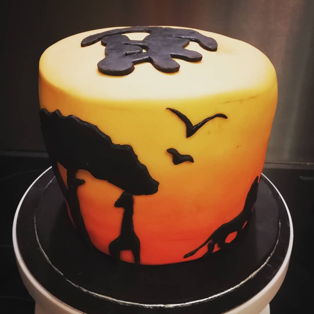 Stupendous Gluten Free Lion King Chocolate Orange Cake The Bakery At Home Funny Birthday Cards Online Fluifree Goldxyz