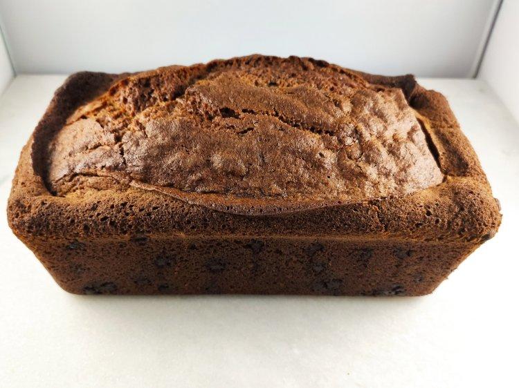 Cooling banana bread loaf
